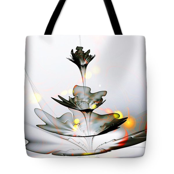 Tote Bag featuring the mixed media Glass Flower by Anastasiya Malakhova