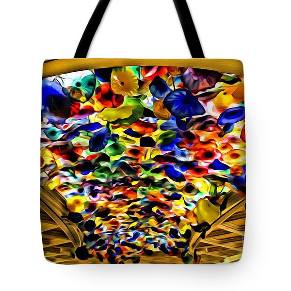 Tote Bag featuring the photograph Glass Flowers by Beauty For God