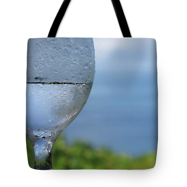 Tote Bag featuring the photograph Glass Half Full by JoAnn Lense