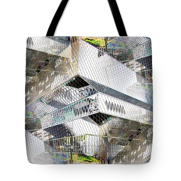 Glass House Tote Bag by Tim Allen