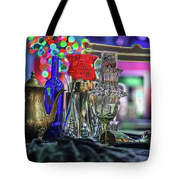 Glass In The Frame Of Colorful Hearts Tote Bag