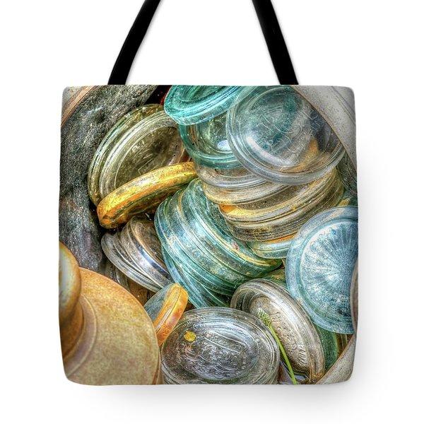 Glass Lids Tote Bag by Irwin Seidman