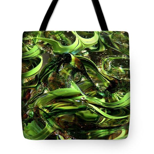Glass Macro Iv Tote Bag by David Patterson