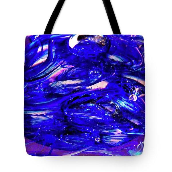 Glass Macro Xvii Tote Bag by David Patterson