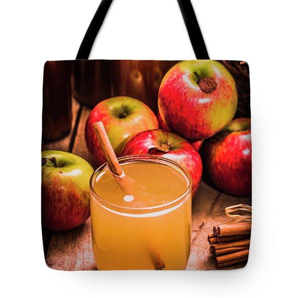 Glass Of Fresh Apple Cider Tote Bag