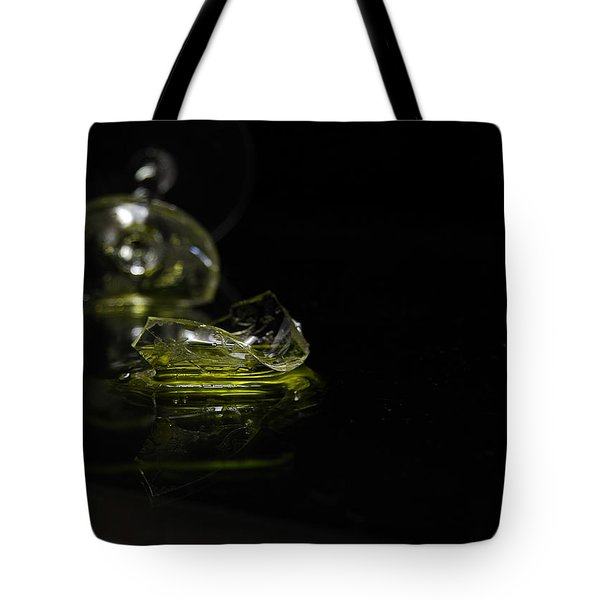 Tote Bag featuring the photograph Glass Shard by Susan Capuano