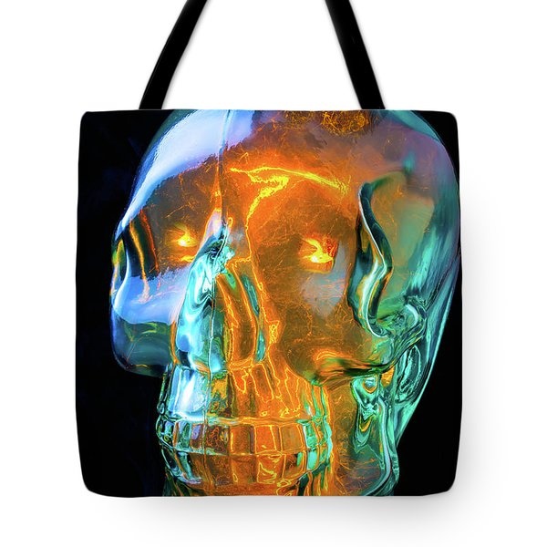 Glass Skull Tote Bag