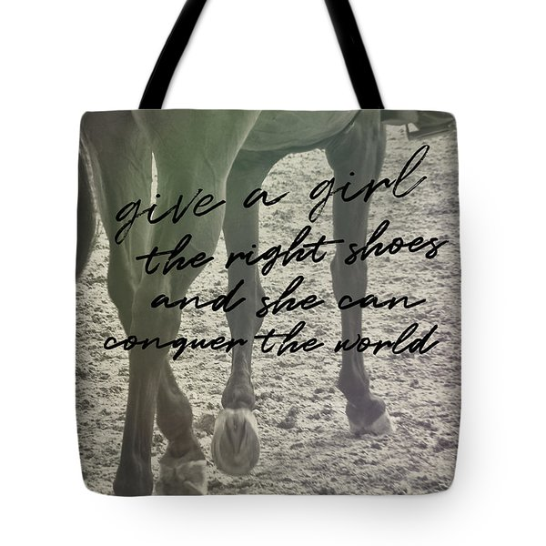 Glass Slipper Quote Tote Bag