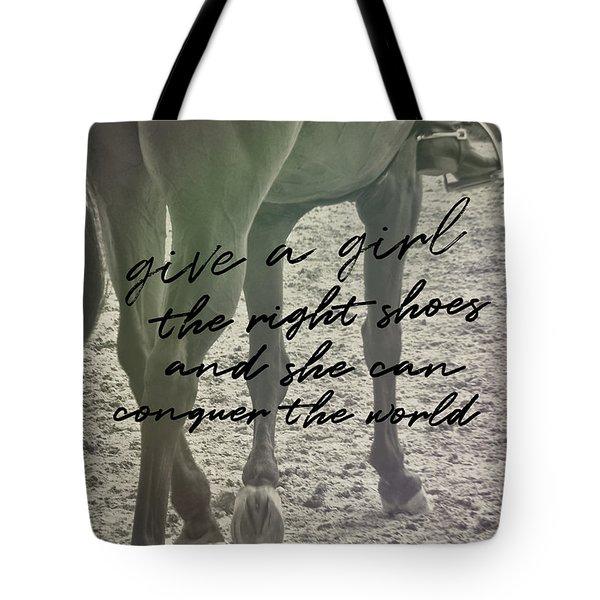 Glass Slipper Quote Tote Bag