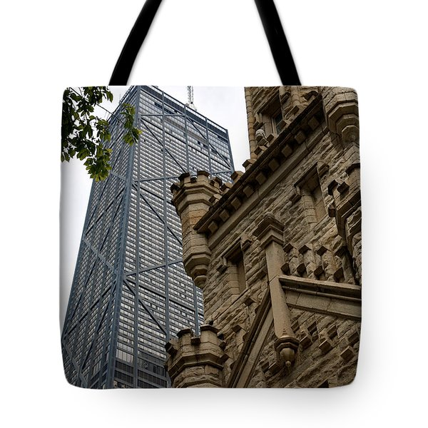 Glass Steel And Stone Tote Bag