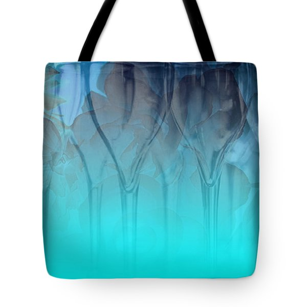 Glasses Floating Tote Bag by Allison Ashton