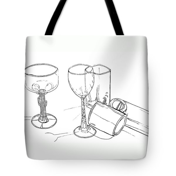 Glasses Tote Bag by Jean Haynes