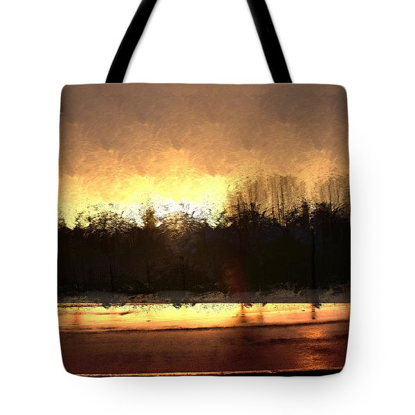 Glassy Dawn Tote Bag by Terence Morrissey