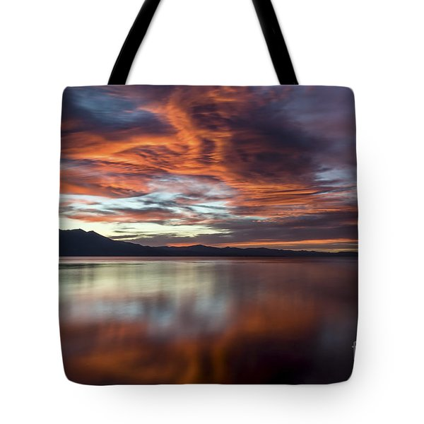 Glassy Tahoe Tote Bag by Mitch Shindelbower