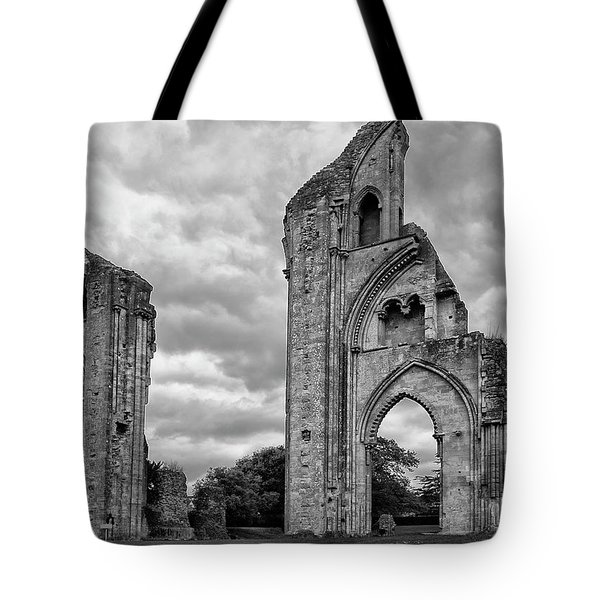 Tote Bag featuring the photograph Glastonbury Abbey by Elvira Butler