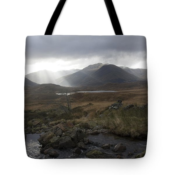 Glen Affric Storm Tote Bag by Sue Arber