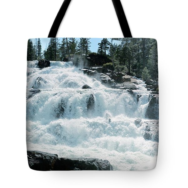 Glen Alpine Falls Mist Tote Bag