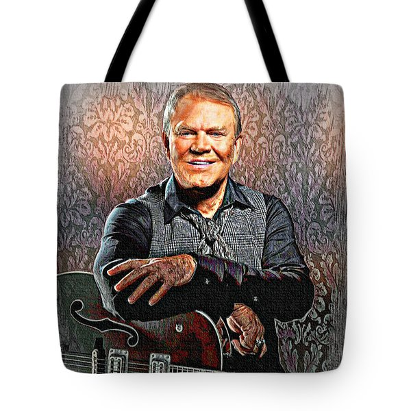Glen Campbell - Singing Icon Tote Bag