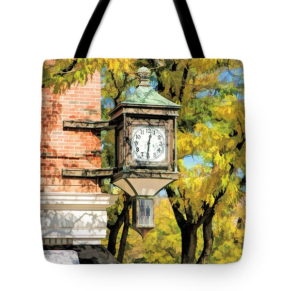 Glen Ellyn Corner Clock Tote Bag
