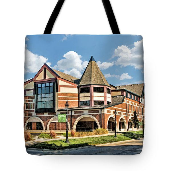 Tote Bag featuring the painting Glen Ellyn Public Library by Christopher Arndt