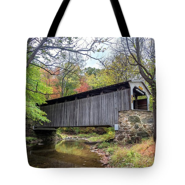 Glen Hope Covered Brige During Autumn Tote Bag