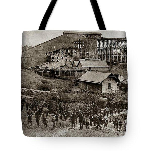 Glen Lyon Pa Susquehanna Coal Co Breaker Late 1800s Tote Bag