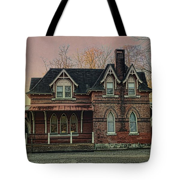 Tote Bag featuring the photograph Glen Mill Train Station by Judy Wolinsky