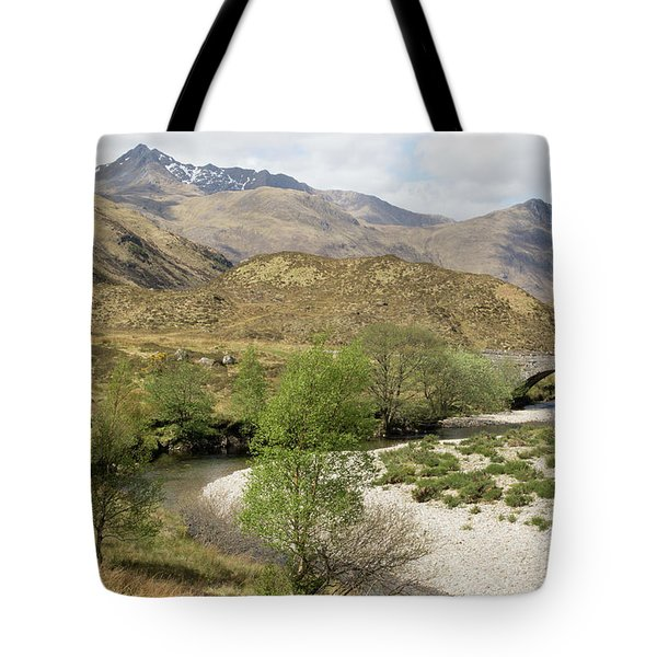 Tote Bag featuring the photograph Glen Shiel - Scotland by Karen Van Der Zijden
