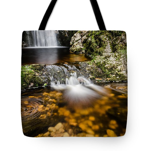 Glenevin Waterfall Clonmany Tote Bag by Martina Fagan