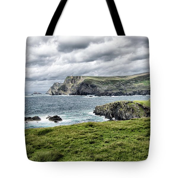 Tote Bag featuring the photograph Glencolmcille by Alan Toepfer