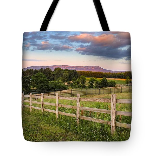 Tote Bag featuring the photograph Glendale Road View Of Mount Tom by Sven Kielhorn
