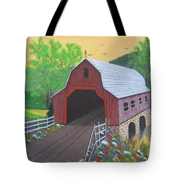 Glenda's Covered Bridge Tote Bag