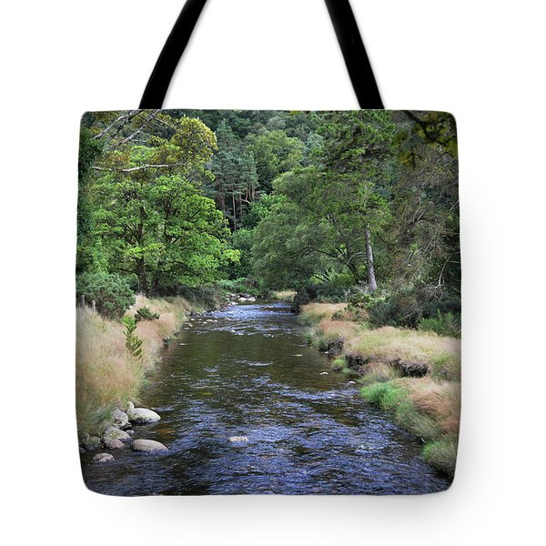 Tote Bag featuring the photograph Glendasan River. by Terence Davis