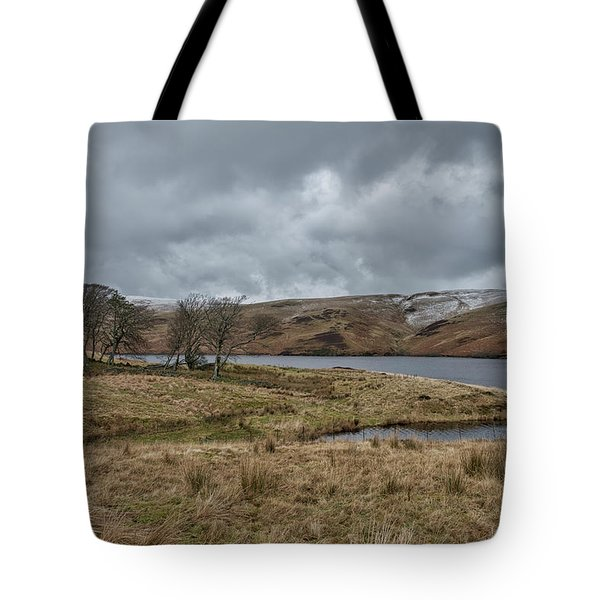 Tote Bag featuring the photograph Glendevon Reservoir In Scotland by Jeremy Lavender Photography