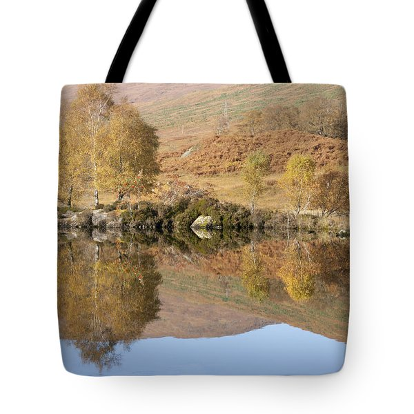 Tote Bag featuring the photograph Glengarry Reflection by Karen Van Der Zijden