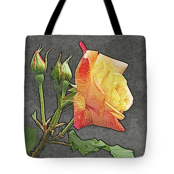 Glenn's Rose 2 Tote Bag by Michael Peychich