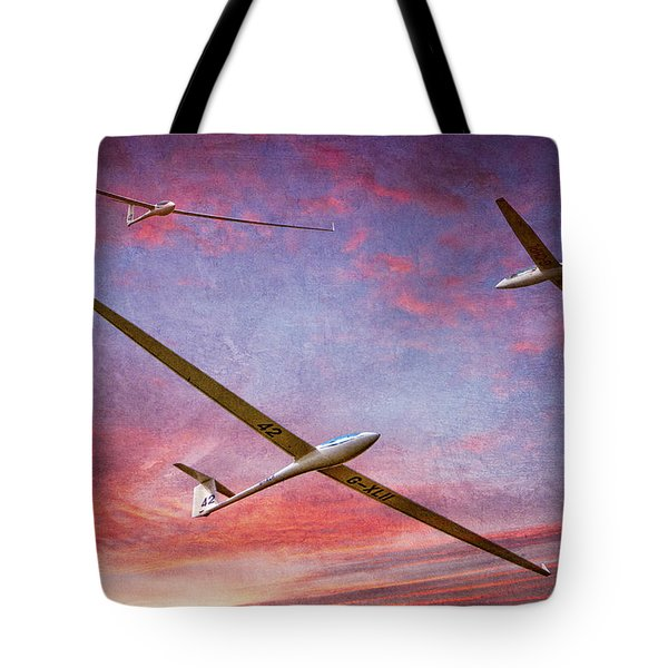 Gliders Over The Devil's Dyke At Sunset Tote Bag