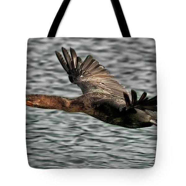Gliding Cormorant Tote Bag