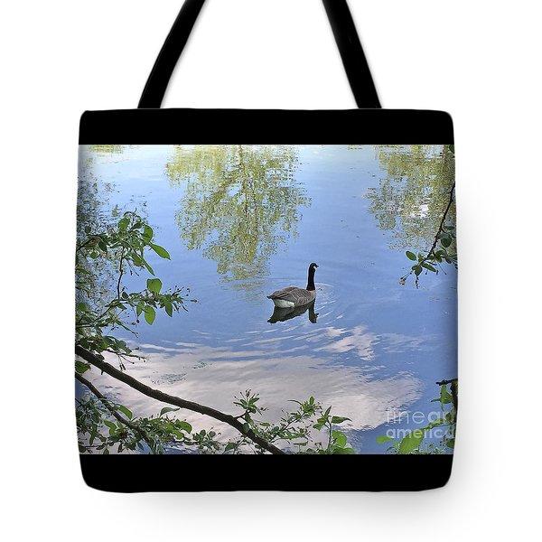 Gliding Goose Tote Bag