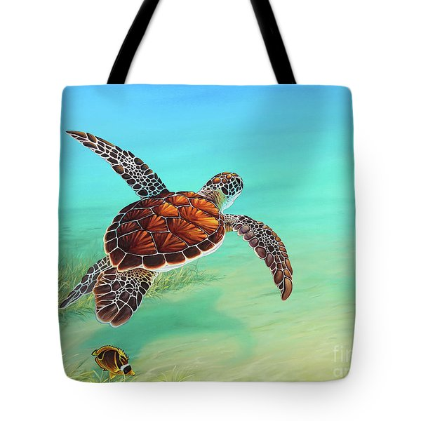 Gliding Through The Sea Tote Bag