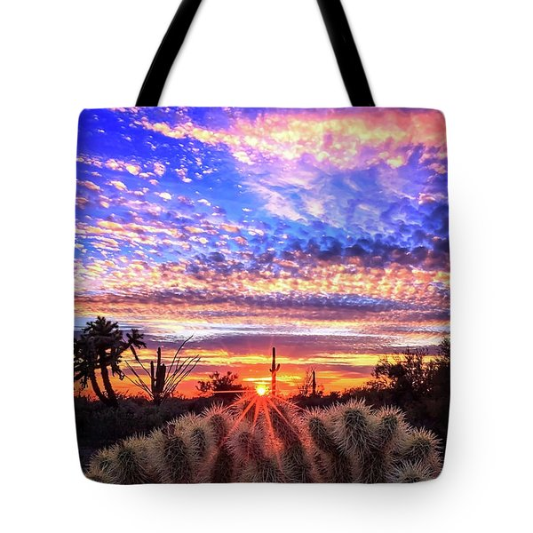 Tote Bag featuring the photograph Glimmering Skies by Rick Furmanek