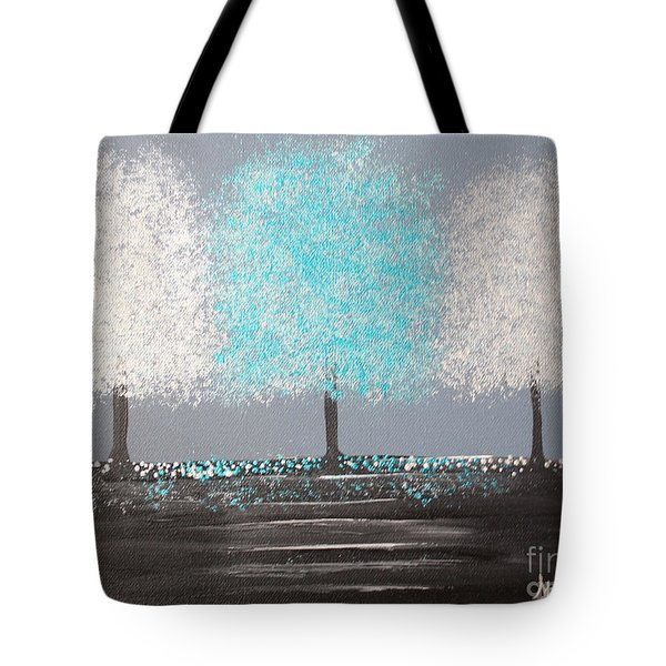 Glistening Morning Tote Bag