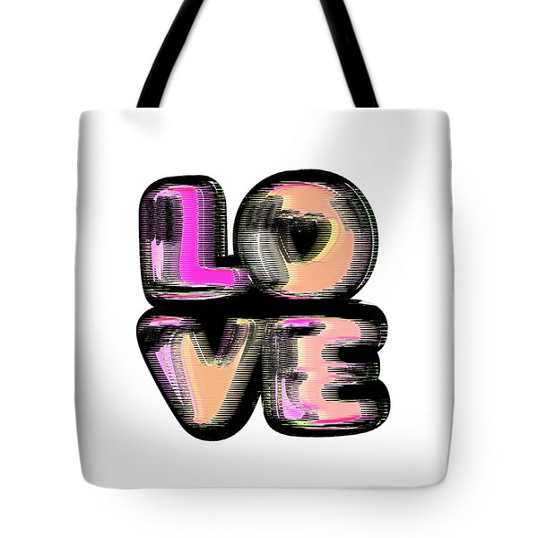 Tote Bag featuring the digital art Glitch by Bee-Bee Deigner