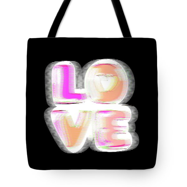 Tote Bag featuring the digital art Glitch In Black by Bee-Bee Deigner