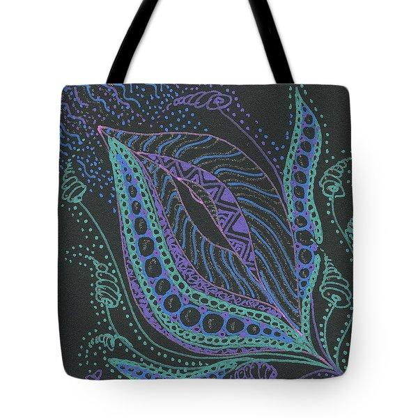 Glitter Flower Tote Bag