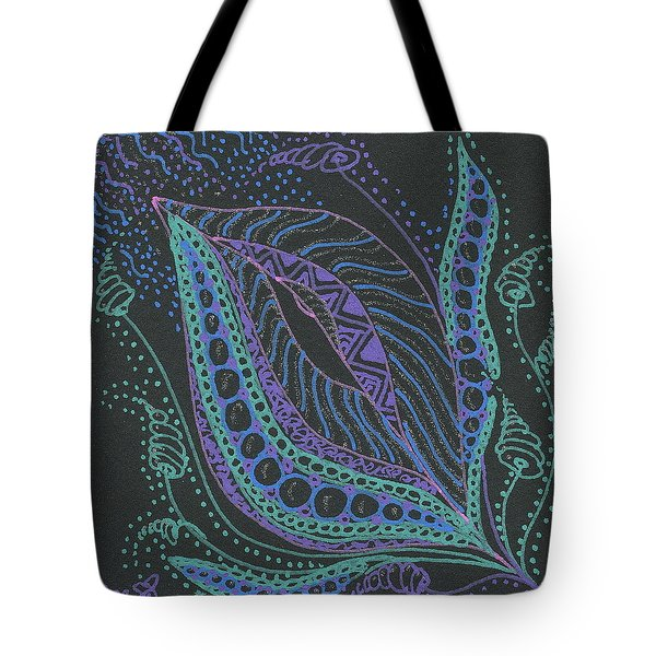 Glitter Flower Tote Bag