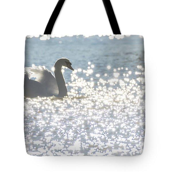 Glitz And Glamory Swan Tote Bag