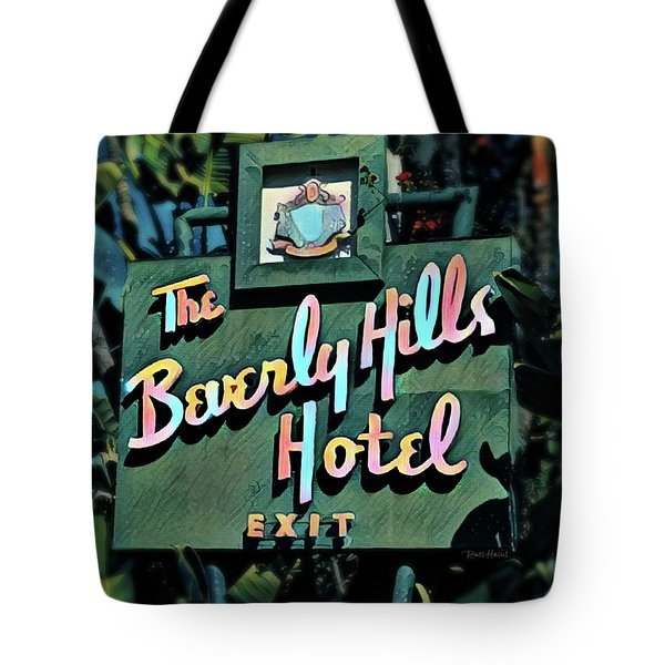 Glitzy Beverly Hills Hotel Tote Bag