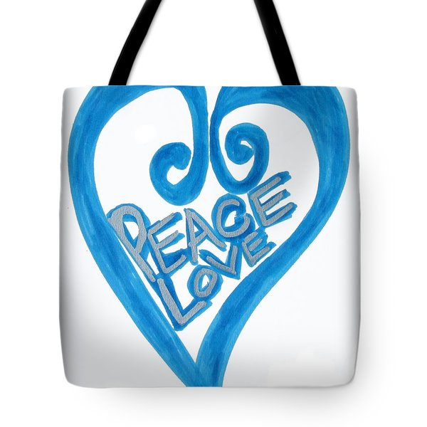 Global Peace And Love Heart Tote Bag