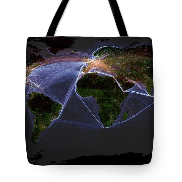 Global Transportation Map Tote Bag by Felix PD and Globaia